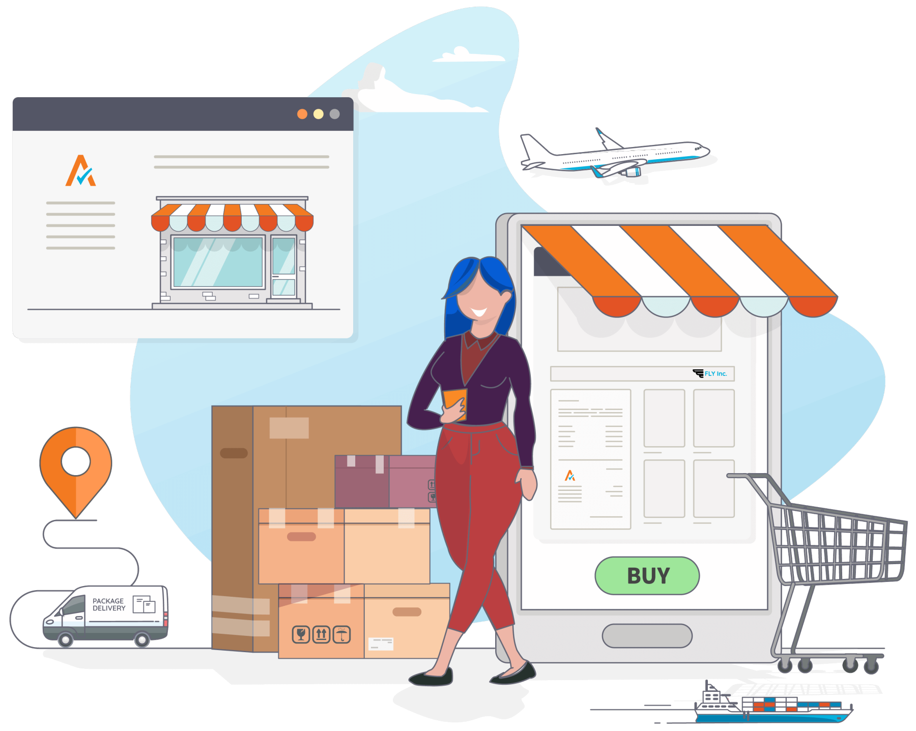 Ecommerce Shopping Illustration