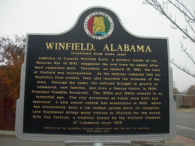 Do business in Winfield? File with the Alabama DOR.