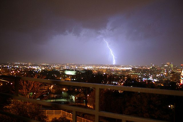 Severe weather happens: storm over Birmingham, Alabama.