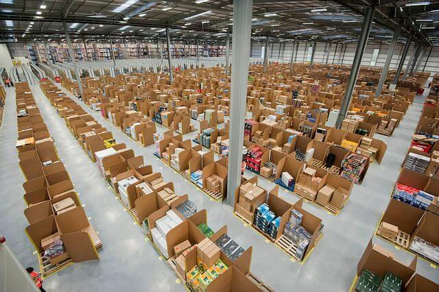 Amazon fulfillment center in Fife, Scotland.