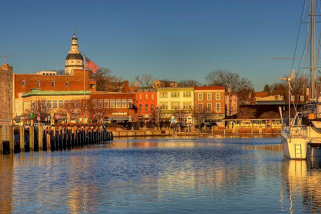 Sunrise in Annapolis, Maryland.