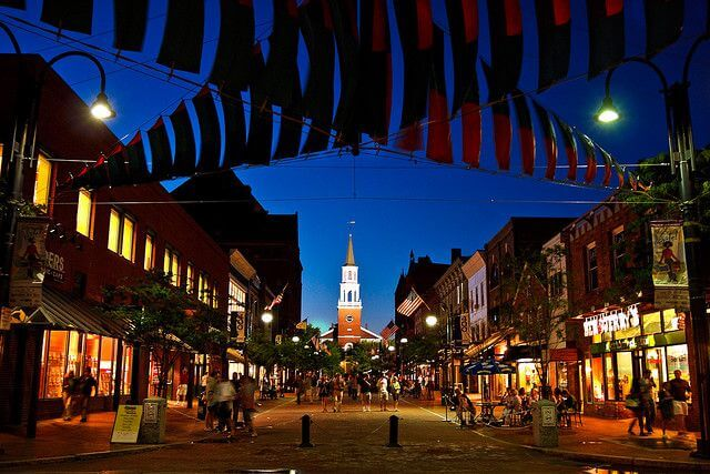 Church Street, Burlington, Vermont.