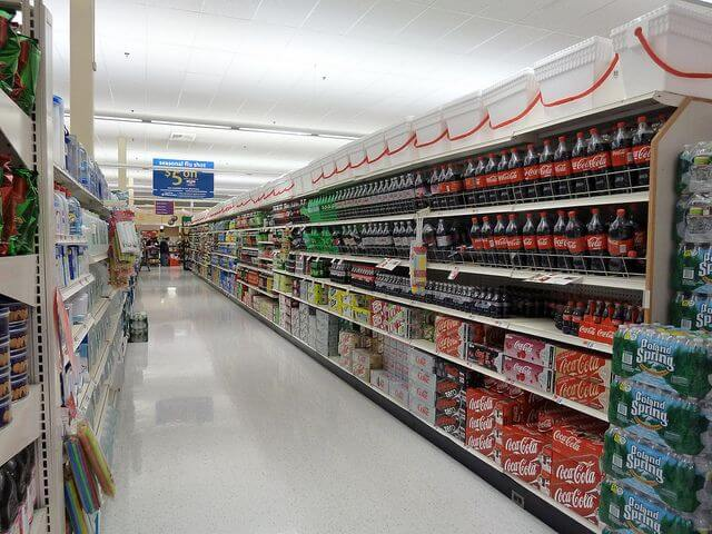 Behold the soda aisle.