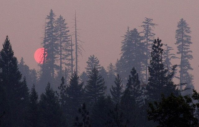 Sunset during the 2008 California wildfires.