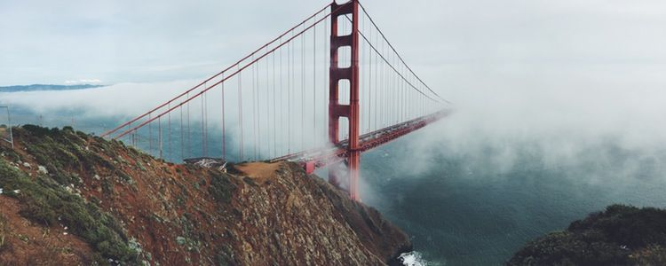 Golden Gate Bridge, fog
