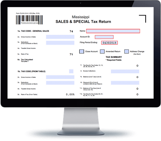 Mississippi sales tax form 72 010 avalara trustfile for Tax document automation software