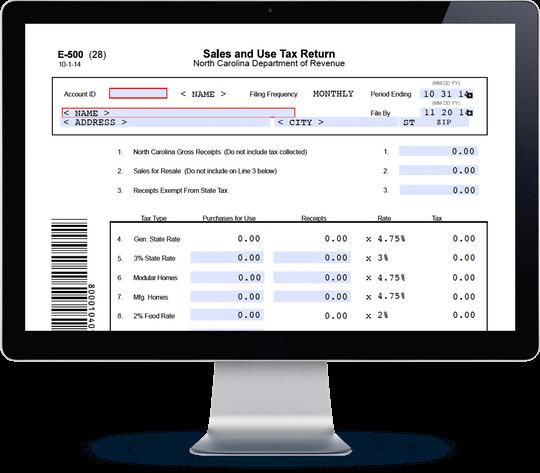 north carolina sales tax form e-500 | avalara trustfile