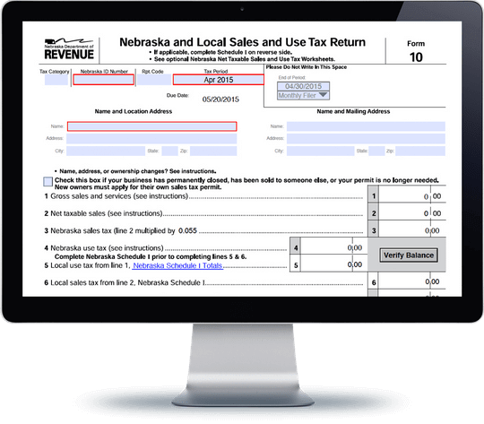 Nebraska Sales Tax Form Ne 10 Avalara Trustfile