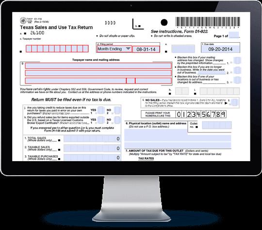 Texas Sales Tax Form 01-114 | Avalara TrustFile