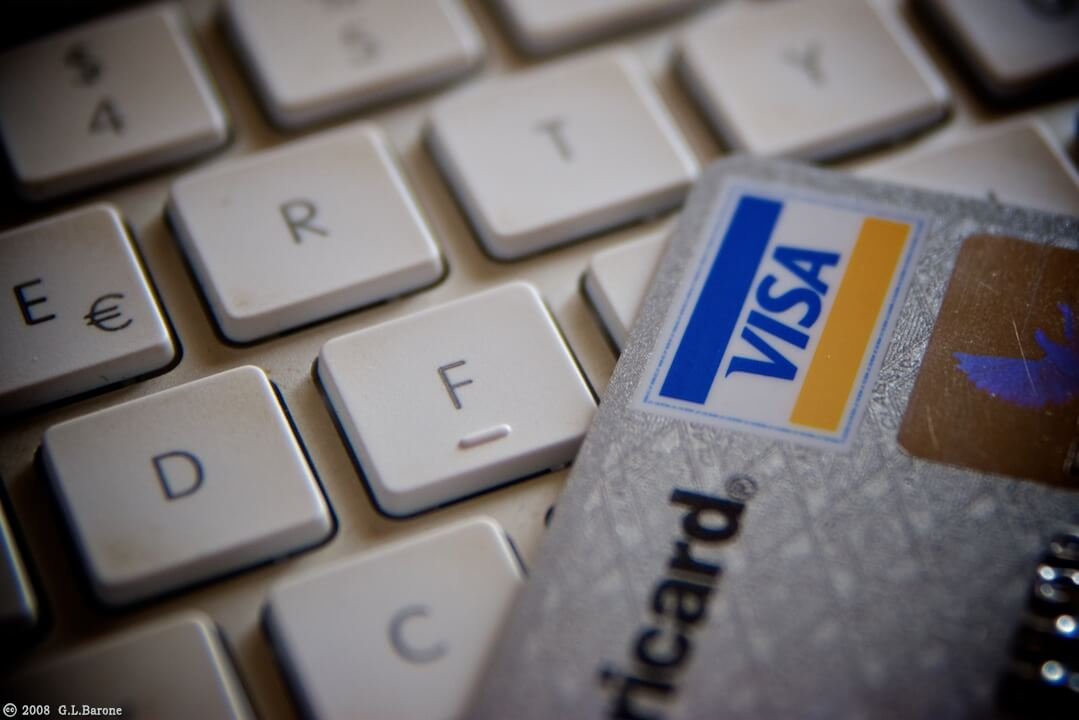 Carte di credito e tastiera