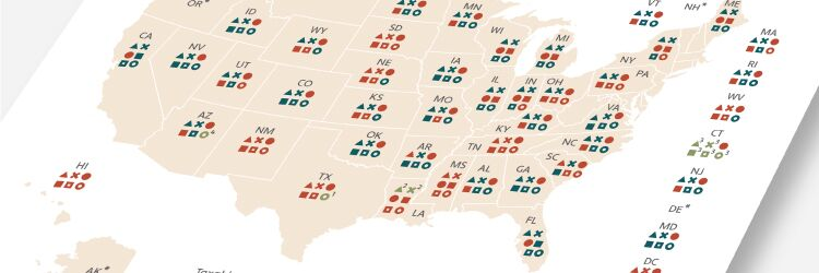 map of software sales tax by state